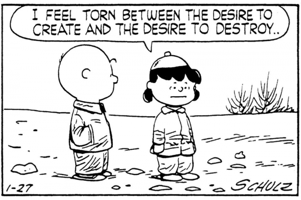 Peanuts cartoon found online